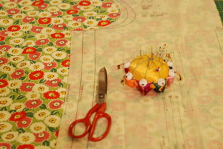 scissors and pincushion