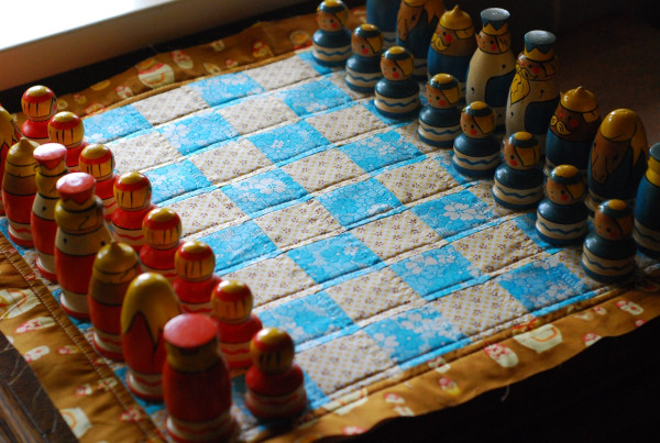 quilted chess board