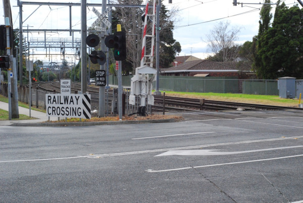 the railway crossing
