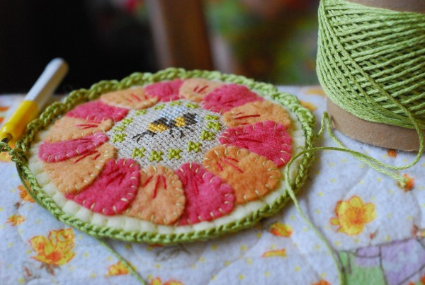 crochet the edge