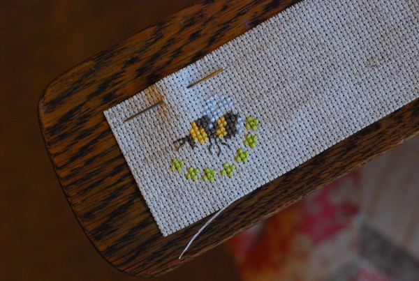 the cross stitch