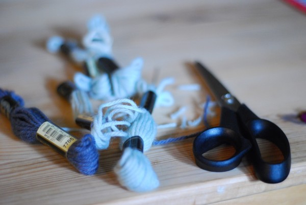 scissors and wool