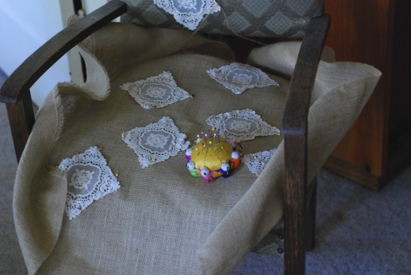 appliqued chair