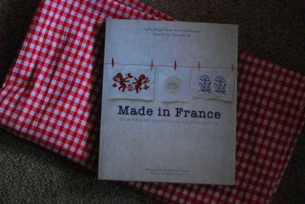 book and fabric