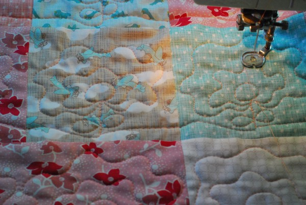 quilting the flowers