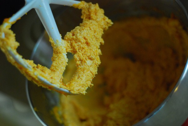 whip the butter and pumpkin into a lather