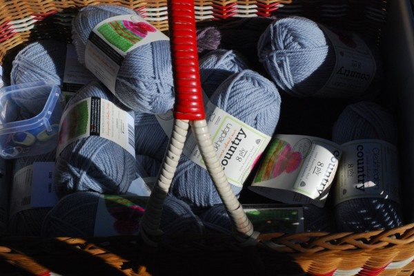 a basket of wool