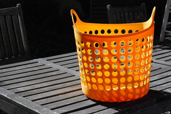 even the washing basket glows