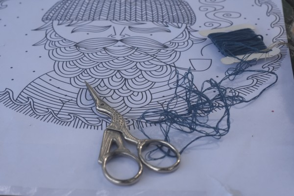 pattern and scissors