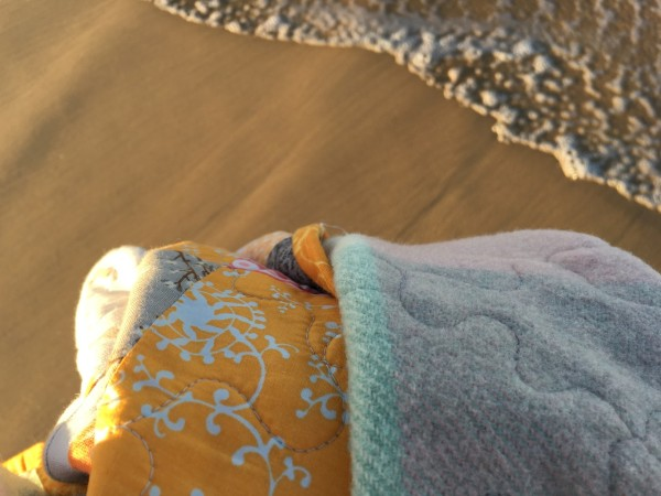 quilt and waves