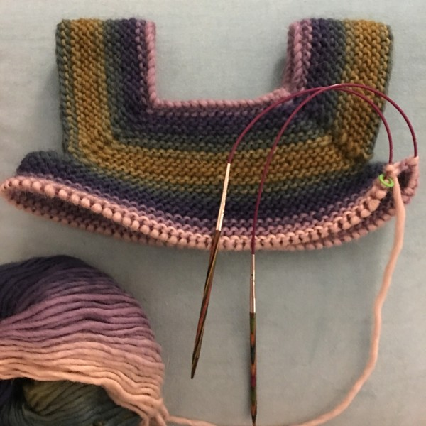 but first some knitting